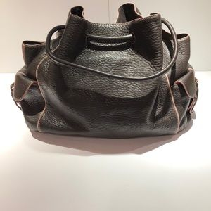 Cole Haan Contrast Piped Leather Tote Bag
